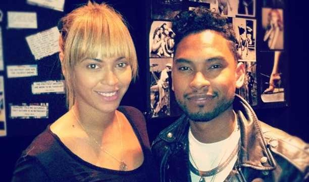 Miguel and Beyonce in the Studio Together