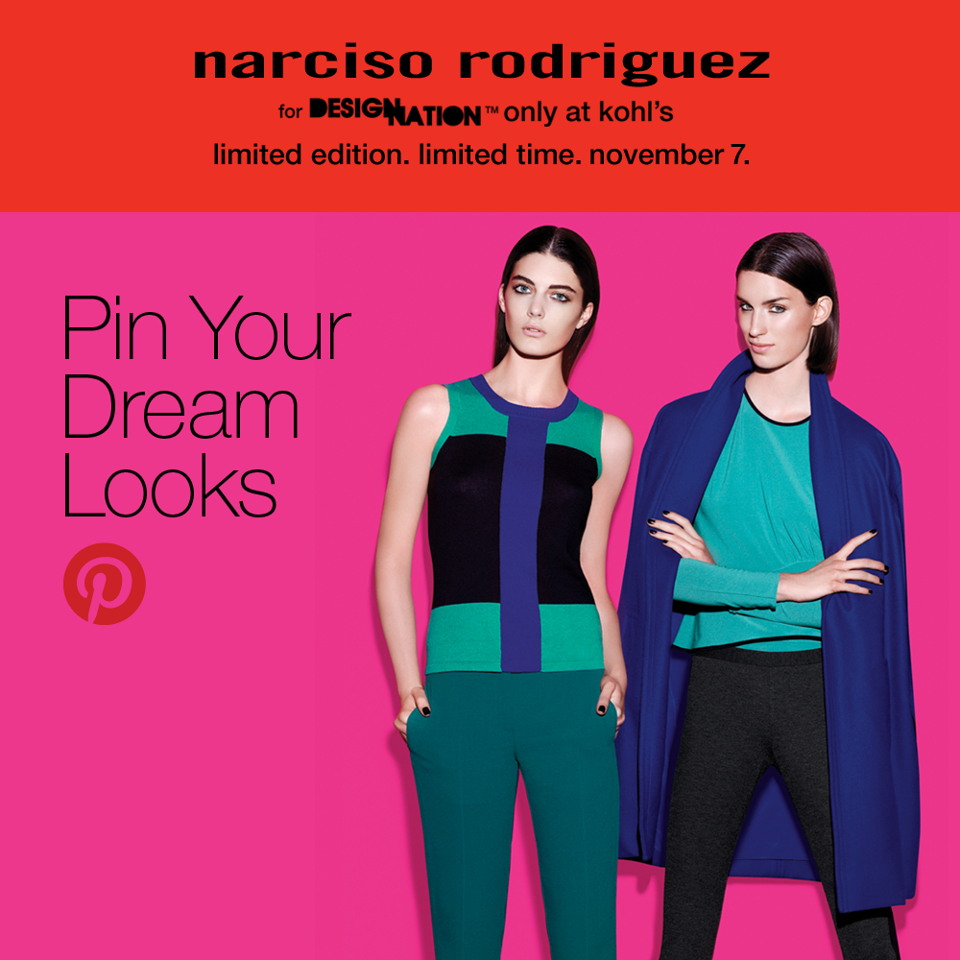 Pin your dream looks on Pinterest using the Narciso Rodriguez for