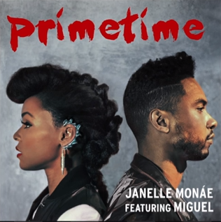 Janelle Monae artwork for single primetime featuring miguel