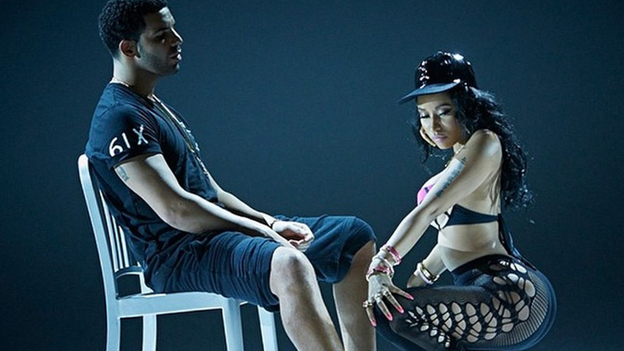 Nicki Minaj Twerks On Drake in 'Anaconda' Video