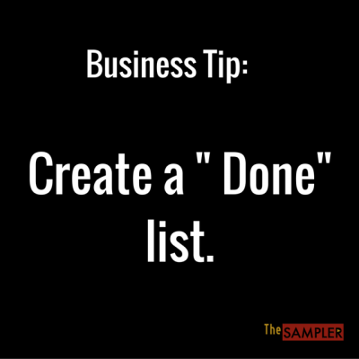 """Business Tip: Create a """"Done"""" List"""