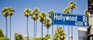 Hollywood boulevard sign, with palm trees in the background; Shutterstock ID 90175036; PO: Film002; Job: Film Connection; Client: RRF, Inc.